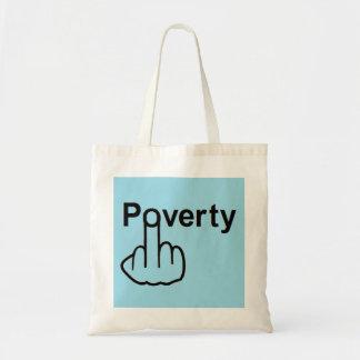 Pobreza del bolso bolsa de mano