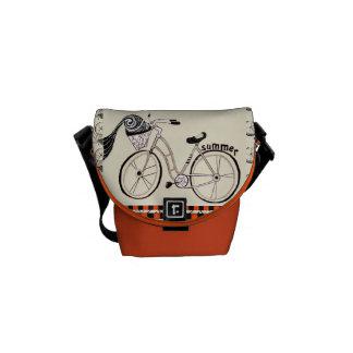 Poca bicicleta del verano bolsas de mensajería