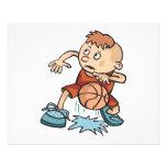poca bola de goteo del muchacho del niño del balon tarjeta publicitaria