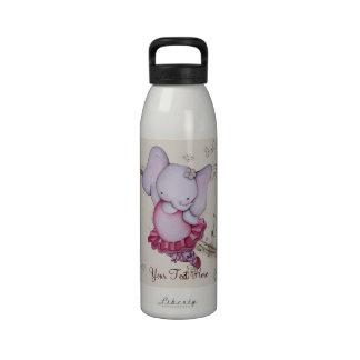 Poca botella de agua del elefante de la bailarina