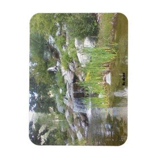 Poca caída del agua imán rectangular