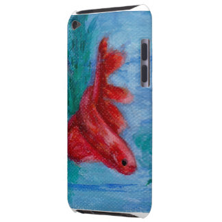 Poca caja roja de la mota de IPod de los pescados Funda Case-Mate Para iPod