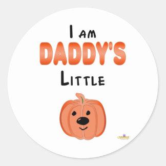 Poca calabaza soy Daddys poca calabaza Pegatina Redonda