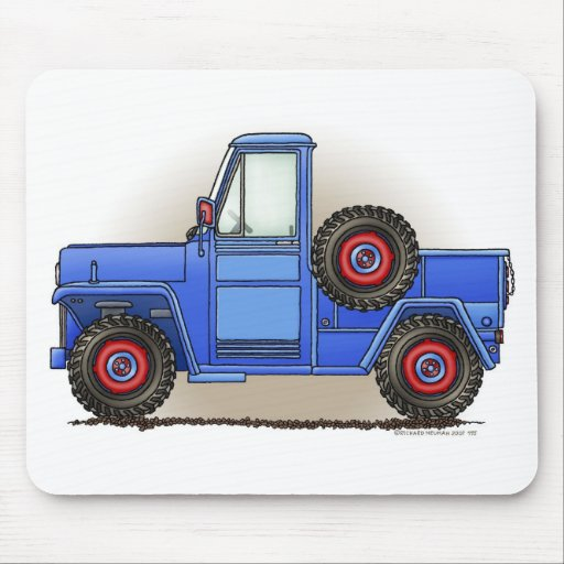 Poca camioneta pickup de cuatro ruedas alfombrillas de raton