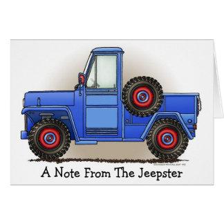 Poca camioneta pickup de cuatro ruedas tarjeta de felicitación