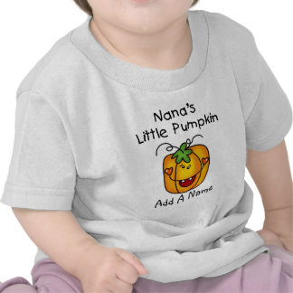 Poca camiseta de la calabaza de Nana personalizada