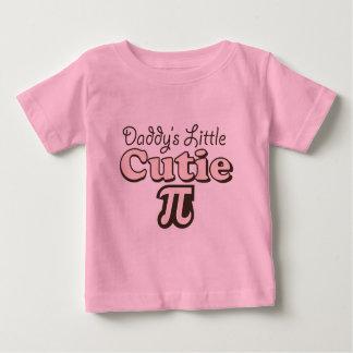 Poca camiseta del bebé de Cutie pi del papá Playeras