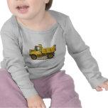 Poca camiseta del bebé del camión volquete