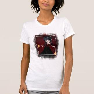 Poca camiseta del diseño 1 del chica del diablo de polera