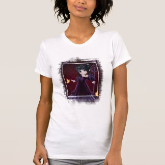 Poca camiseta del diseño 6 del chica del diablo de poleras