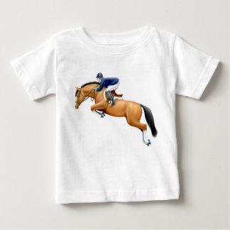 Poca camiseta del niño del caballo del puente de