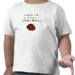 Poca camiseta linda del niño de la albóndiga de la