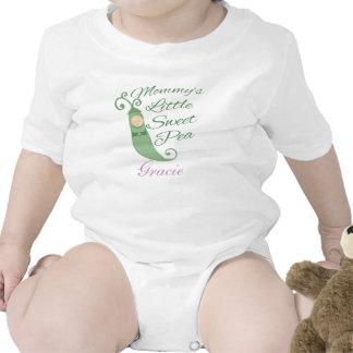 Poca camiseta o enredadera del bebé del guisante d