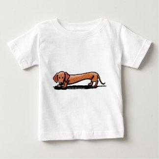 Poca camiseta roja del bebé de Doxie Playera