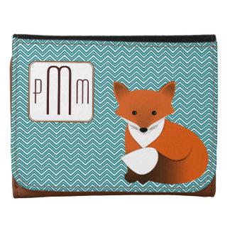 Poca cartera con monograma del Fox