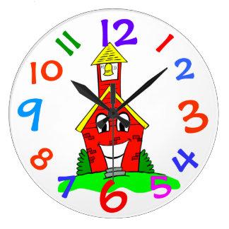 Poca casa de la escuela del rojo embroma el reloj