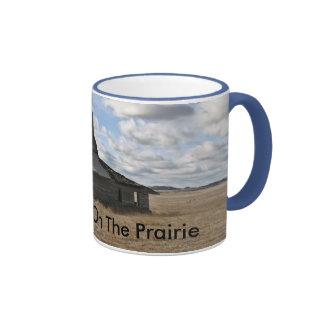 Poca casa en la pradera tazas de café