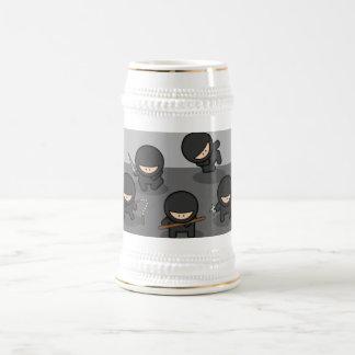 ¡Poca cerveza Stein de Ninja - regalo de KItchy! Jarra De Cerveza