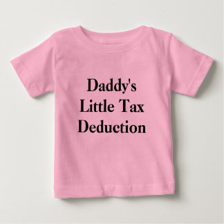 Poca deducción fiscal del papá playera para bebé