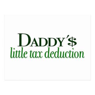 Poca deducción fiscal del papá postal