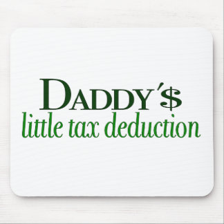 Poca deducción fiscal del papá alfombrilla de ratones