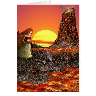 Poca diosa Pele, tarjeta del volcán