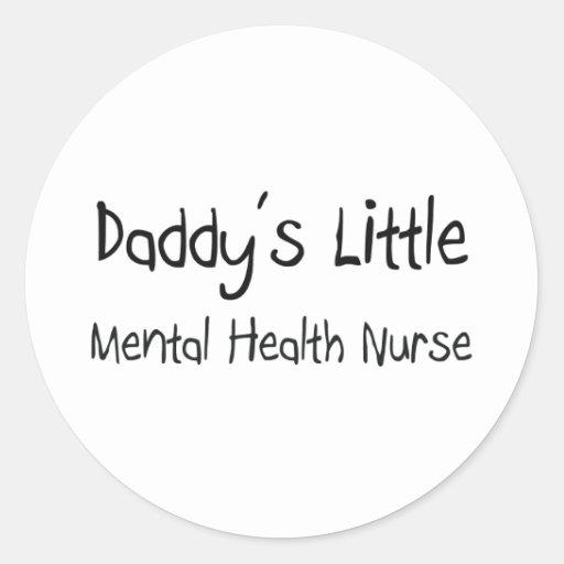 Poca enfermera de la salud mental del papá pegatina redonda