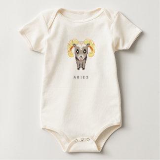 Poca enredadera del aries del zodiaco mamelucos de bebé
