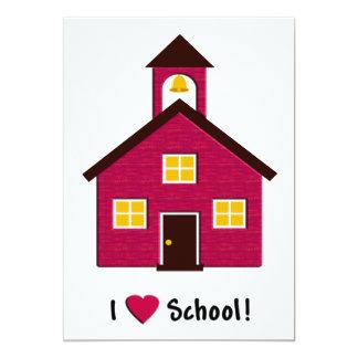 """Poca escuela roja del amor de la casa I de la Invitación 5"""" X 7"""""""