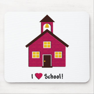 Poca escuela roja del amor de la casa I de la Tapete De Ratón