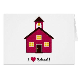 Poca escuela roja del amor de la casa I de la Tarjeta De Felicitación