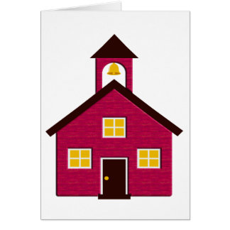 Poca escuela roja tarjeta de felicitación