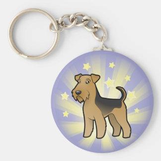 Poca estrella Airedale Terrier/Terrier galés Llaveros