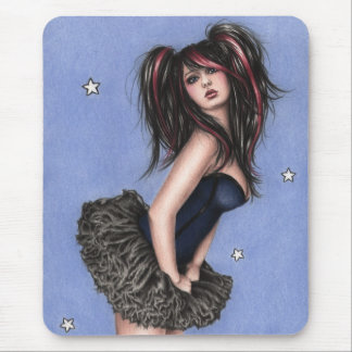 Poca estrella azul Mousepad Tapetes De Ratón