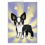Poca estrella Boston Terrier Felicitacion