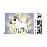Poca estrella bull terrier sello postal