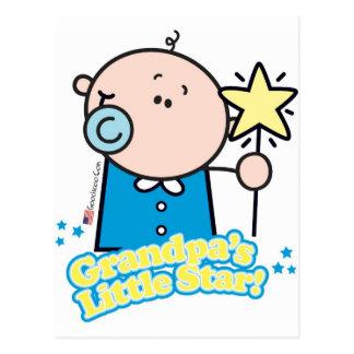 Poca estrella de GoochiCoo Granddpa Tarjeta Postal