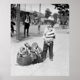 Poca estrella del rodeo: 1923 póster