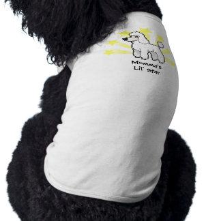 Poca estrella estándar/corte del perrito del playera sin mangas para perro