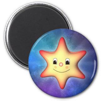 Poca estrella imán redondo 5 cm