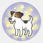 Poca estrella Jack Russell Terrier Pegatinas Redondas