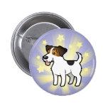 Poca estrella Jack Russell Terrier Pin Redondo 5 Cm