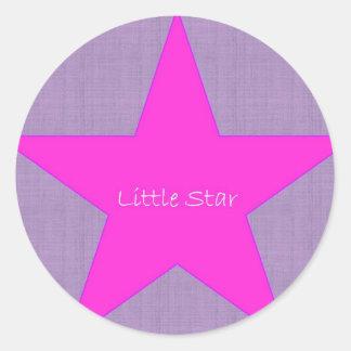 Poca estrella pegatina redonda