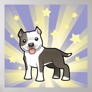 Poca estrella Pitbull/Staffordshire Terrier americ Posters