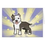 Poca estrella Pitbull/Staffordshire Terrier Tarjeta De Felicitación