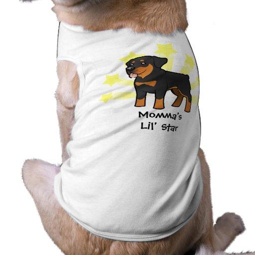 Poca estrella Rottweiler Playera Sin Mangas Para Perro