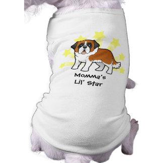 Poca estrella St Bernard Camisetas De Mascota