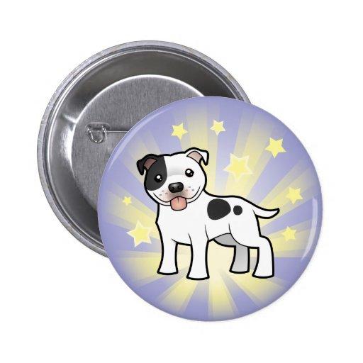 Poca estrella Staffordshire bull terrier Pin