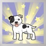 Poca estrella Staffordshire bull terrier Póster