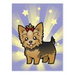 Poca estrella Yorkshire Terrier (pelo corto y Postal